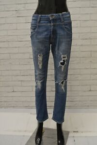 Jeans-Donna-DANIELE-ALESSANDRINI-Taglia-40-Pantalone-Blu-Pants-Woman-Slim-Skinny