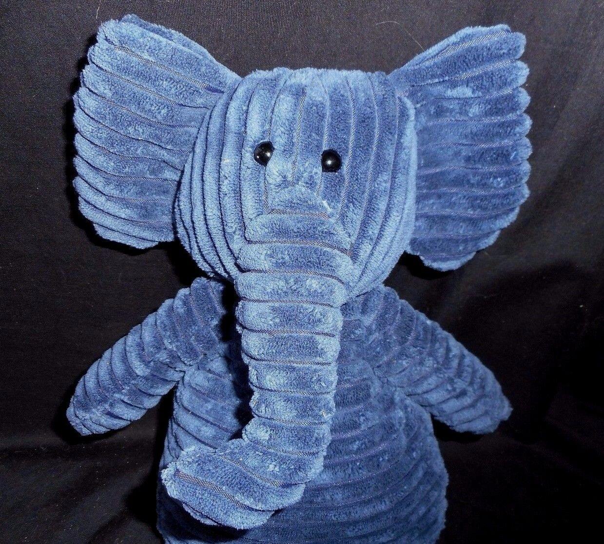16  JELLYCAT CORDY CORDUROY NAVY blueE ELEPHANT STUFFED ANIMAL ANIMAL ANIMAL PLUSH TOY SOFT 850db3