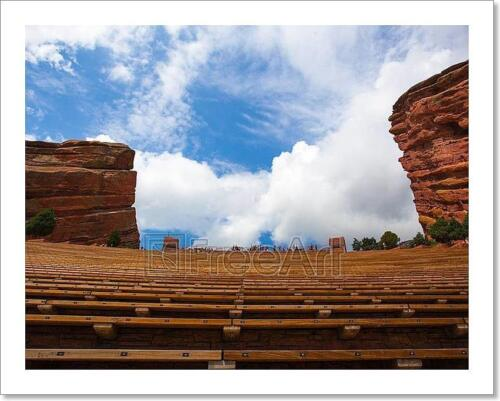 Famous Red Rocks Amphitheater In  Art Print Home Decor Wall Art Poster C