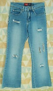 Embellished-Real-RHINESTONE-Cutouts-FLARE-Low-YOUNIQUE-Stretch-Jeans-1-short