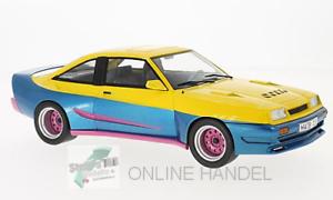 Opel-Manta-B-Mattig-gelb-blau-1991-MCG-1-18-Manta-Manta