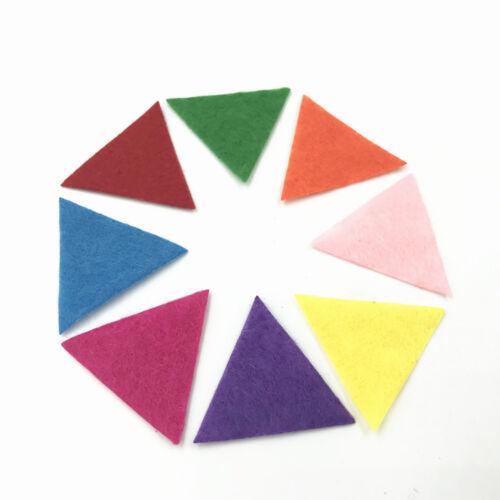 200X Mischfarbe dreieckig filz Applique scrapbooking dekoration 30mm