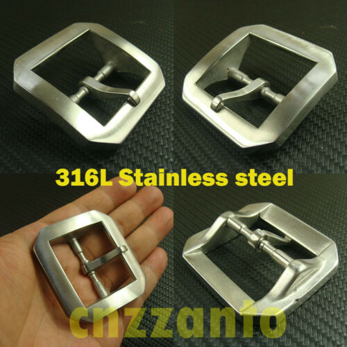 Stainless steel Brushed polish Single Tongue Pin Hippie Belt Buckle 1 1//2/""