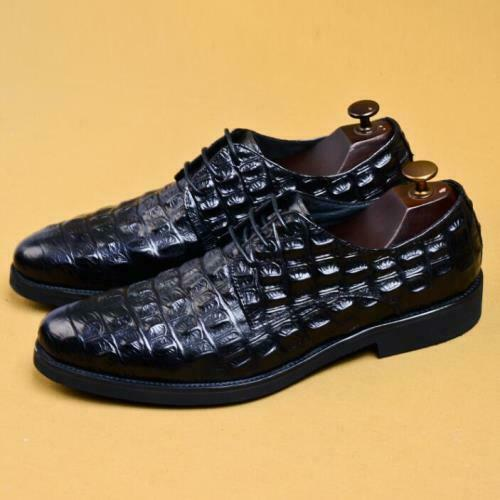 Details about  /Men Dress Formal Real Leather Business Leisure Shoes Work Crocodile pattern 46 L