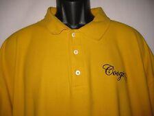 COOGI Yellow Polo Shirt Short Sleeve 4XL XXXXL Embroidered Men's BIG!