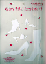 """BOOTS, SANDALS & SHOES Cranberry Card Company """"Glitzy Babe"""" Template #1"""