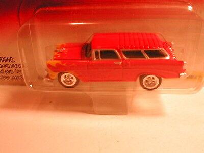 2002 Johnny Lightning Thunder Wagons 1956 CHEVY NOMAD dark orange w/ flames  JL
