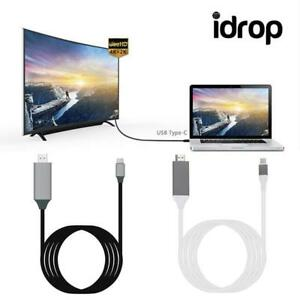 idrop-Type-C-to-HDMI-HDTV-TV-Video-Cable-for-Macbook-HD-Projector-White