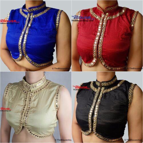 Sari Saree Blouse Gold Mirror Style Designer Indian Bollywood Stitched Choli