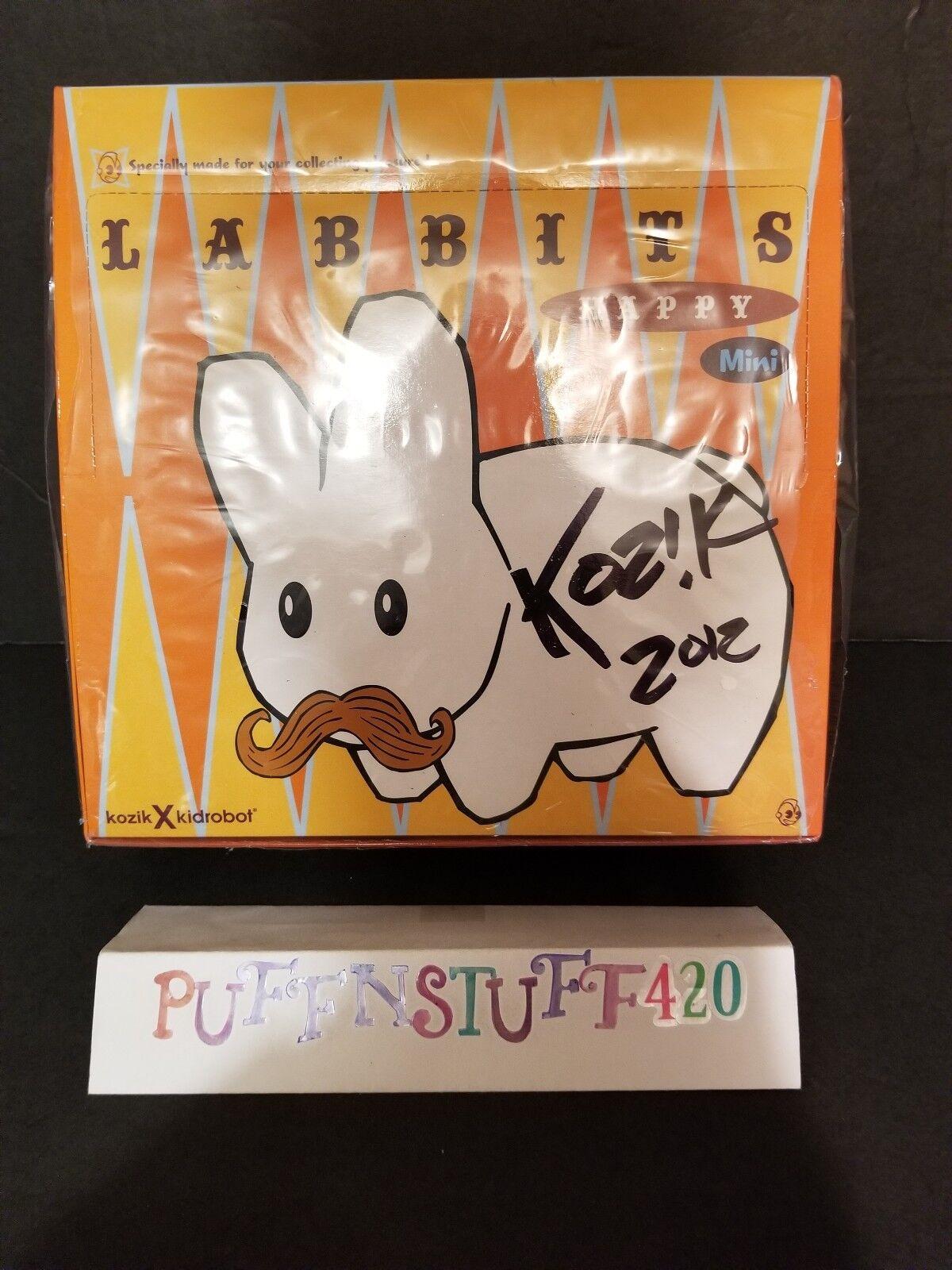Frank Kozik Kidrobot labbits feliz Mini Series 1.5  firmado completo conjunto de AP Edición Limitada 50