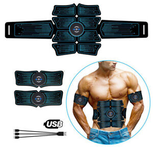 USB EMS Muscle Stimulator Machine ABS Trainer Toner Abdominal Leg Muscle Shaping