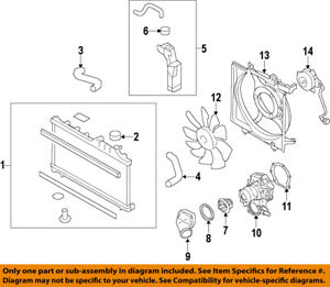 image is loading subaru-oem-08-14-outback-radiator-cooling-fan-