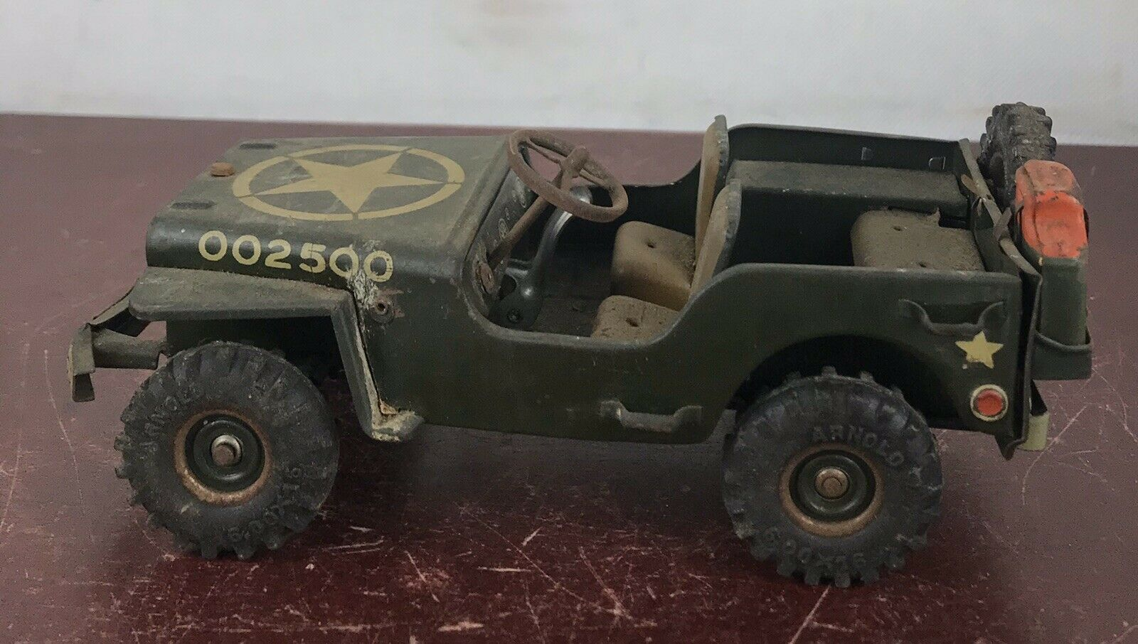 Vintage Arnold Toy Military US Army 1949  Jeep US Zone Germany 002500