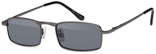 schmale Herren Sonnenbrille rechteckig verspiegelt blau silber A5006