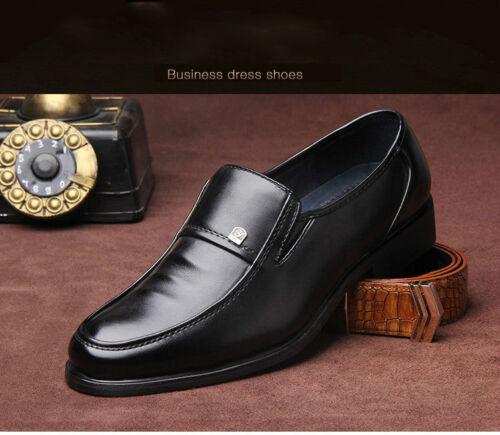 Men Comfort Loafers Driving Shoes Business Dress Formal Oxford Slip On Moccasin