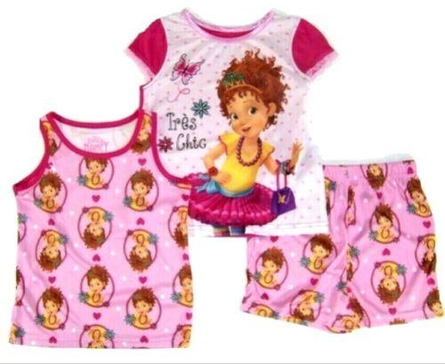 FANCY NANCY 2T 3T 4T 5T TODDER GIRLS 3 Pc Pajamas Pjs DISNEY Shirt Shorts