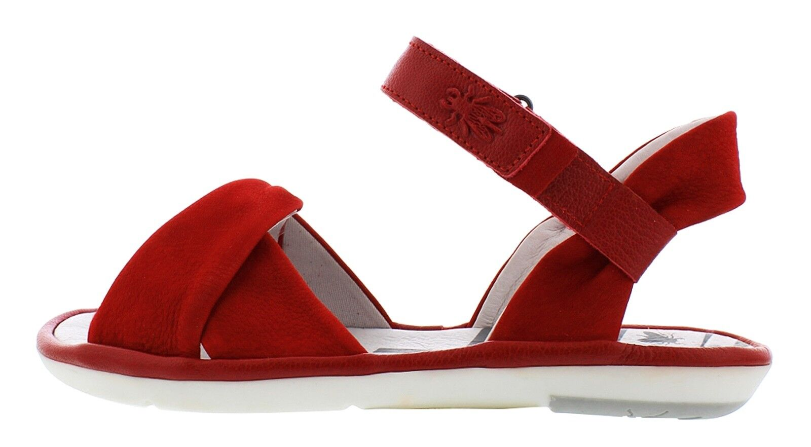 Fly London NEW Mome lipstick rouge genuine leather flat comfort sandals Taille 3-9