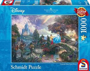Cendrillon-Wishes-sur-un-reve-Schmidt-Disney-Premium-Kinkade-Puzzle-100