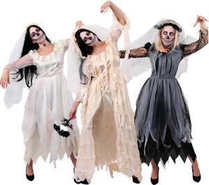 d02e92576a Details about LADIES CORPSE BRIDE HALLOWEEN ZOMBIE GHOST FANCY DRESS CHOOSE  HAVISHAM WOMEN LOT