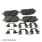 Disc Brake Pad and Hardware Kit-Base Rear Beck/Arnley 085-6687