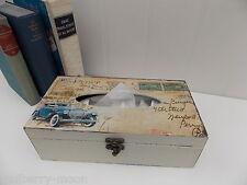 Vintage Cars Tissue Box Cover Gents Birthday Gift Office Tissue Storage Box