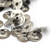 100pcs Candle Wick Sustainer Metal Diameter 12mm Studry Durable Tabs How Decor