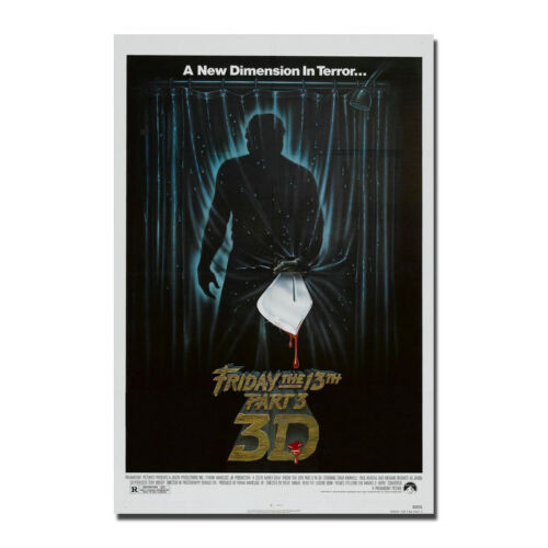 FRIDAY THE 13TH Part 3 Art Silk Poster 3D Horror Movie 13x20 24x36 inch J682