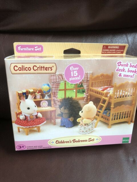 Calico Critters Children's Bedroom Furniture Set Bunk Beds Desk Books And More