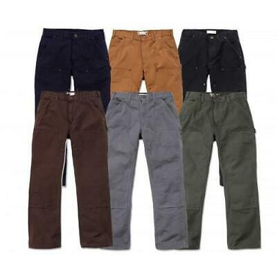 New Carhartt Double Front Dungaree Jeans B136 Work Pants Cotton Duck All Sizes Ebay