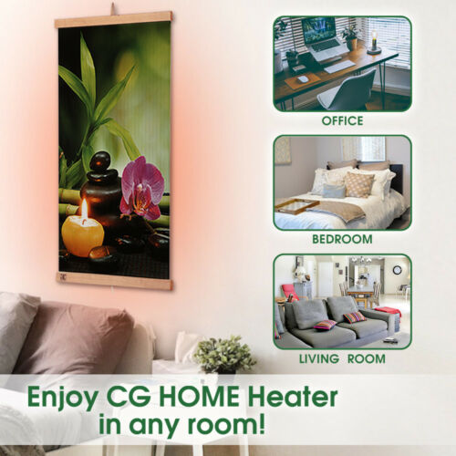 Far Infrared Wall Hung Heating Panel Harmony Electric Film Heater 110V 470W