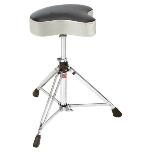 NEW-Gibraltar-Double-Braced-Moto-Style-Drum-Throne-SILVER-SPARKLE-6608MSW