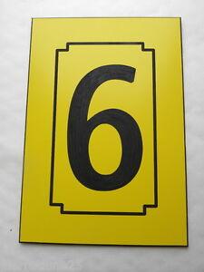 NUMERO DE RUE personnalisée plaque 150 x 100 gravée 1 chiffre de 1 à 9
