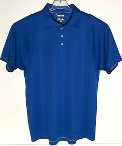 Adidas-Climacool-Mens-Size-L-Blue-Short-Sleeve-Polo-Golf-Shirt