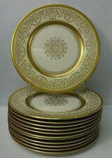 "EDGERTON china E209-200 GOLD MEDALLION Set of Twelve (12) Service Plates 10-5/8"""
