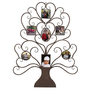 Family Metal Wall Art family tree photo frame metal wall art unique style home decor 7