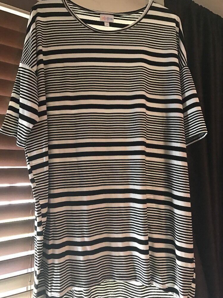 feaab3911081ba Lularoe Irma Größe Medium - schwarz And Weiß Stripes  ntmmqo94-Blusen,Tops & Shirts