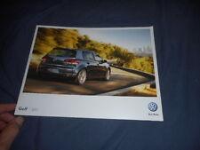 2011 VW Volkswagen Golf USA Market Brochure Catalog Prospekt