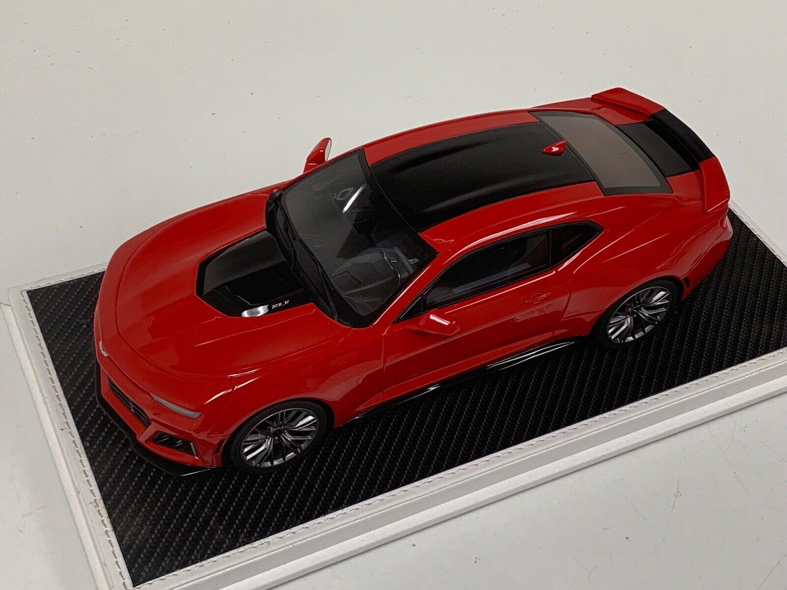 1 18 GT Spirit Chevrolet Camaro SS cinquante Anniversaire Brillant  Rouge US012 Cuir  livraison éclair