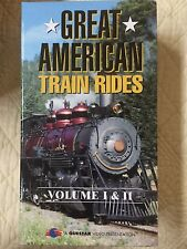 Great American Train Rides Volumes 1 & 2 VHS Tapes Set