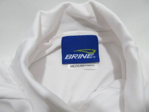Brine Women/'s Compression Base Layer LS Mock Top White Athletic Lacrosse