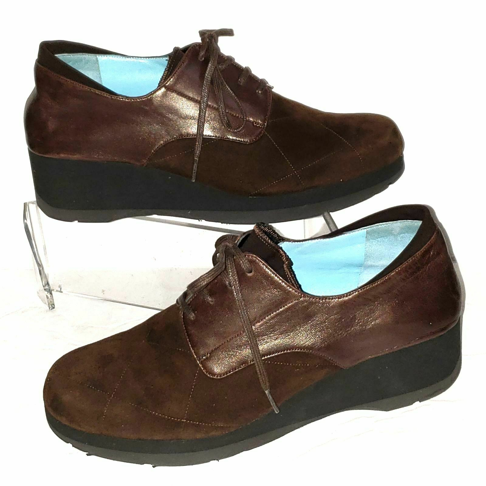Thierry Rabotin Brown Suede Wedge 37/ 7