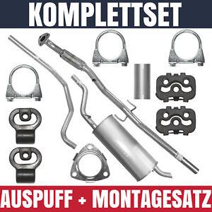 Auspuffanlage Schalldämpferset Auspuff Opel Corsa D 1.2 Montagesatz