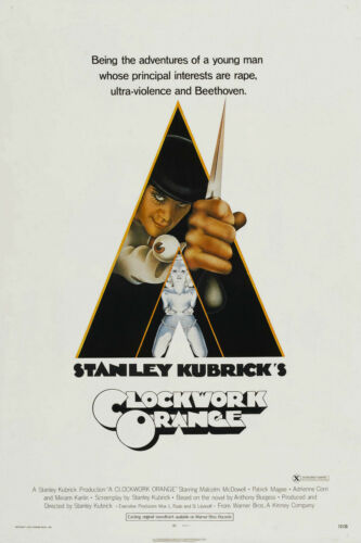 "A CLOCKWORK ORANGE Movie Silk Fabric Poster Stanley Kubrick 24/""x36/"""