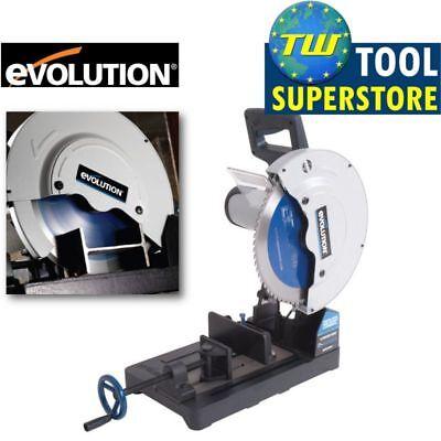 """Evolution EVO355 355mm Raptor TCT Steel Cut Off Saw 240V - 14"""" EVO Chop Saw"""