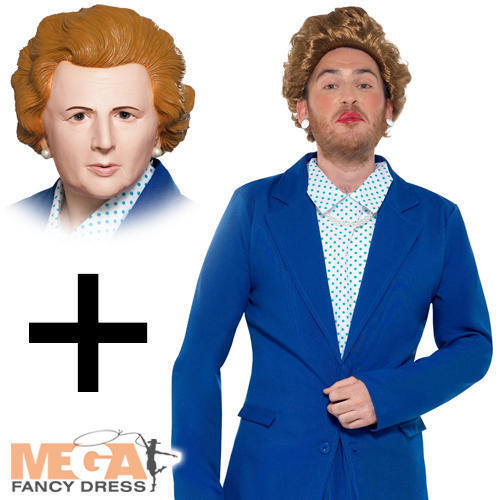 Prime Minister + Mask Mens Fancy Dress Margaret Thatcher Adults Adults Adults Stag 80s Costume | Klein und fein  | Clearance Sale  05336f