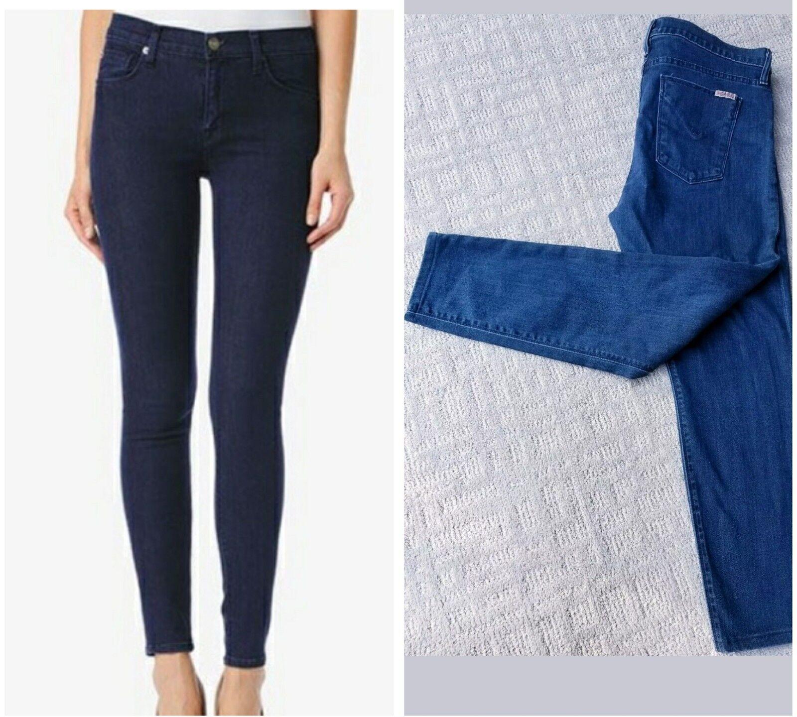 Hudson Runway Medium Wash Midrise NICO Super Skinny ankle jeans size 31x26 L EUC