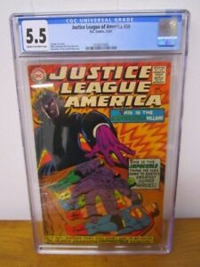 1967 Justice League of America #59 CGC 5.5 ~ Nice Silver Age Comic!!!
