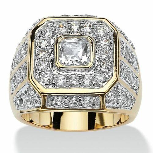 Gorgeous Women Jewelry 18K Yellow Gold Plated White Sapphire Ring Wedding Sz6-10