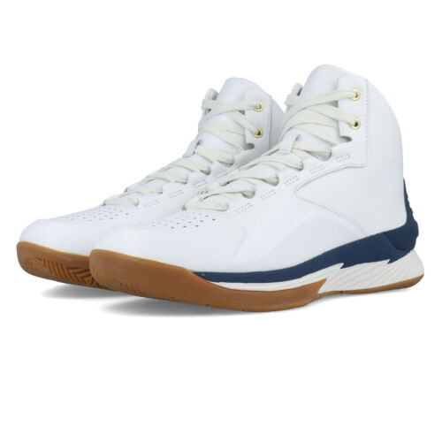 Under Armour Mens Curry 1 Lux Mid Basketball Shoes Sneakers Trainers Navy Be Wht