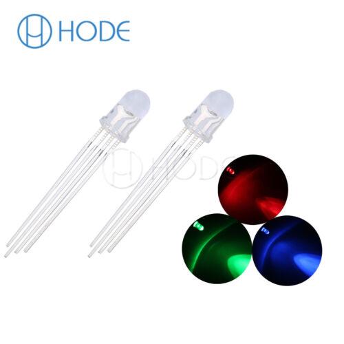Redondo//Sombrero de paja LED 3-10mm RGB//Dual Claro Diodos Flash rápido y lento Reino Unido